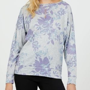 Suzy Shier | Long Sleeve Floral Top